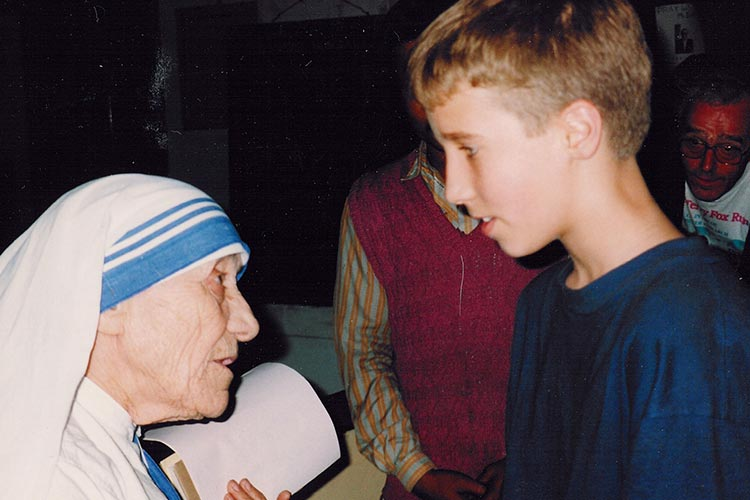 Craig Kielburger with Mother Teresa