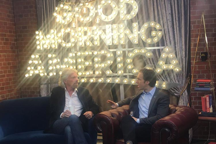 Craig Kielburger talking to Richard Branson - Good Morning America
